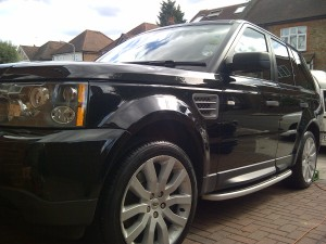 Valet on Range Rover